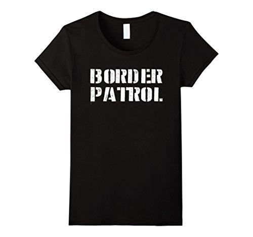 Womens Border Patrol Costume Shirt - Halloween T-Shirt Store XL Black (Offensive Halloween Costumes College)