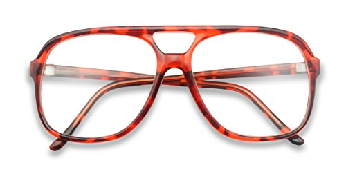 SunglassUP - XL Oversized Horn Frame Optical Rx +1.00 thru +3.50 Reading Glasses (Red Tortoise (58mm), - Frames Optical Rx