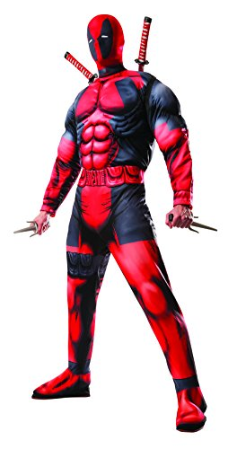 [Rubie's Men's Marvel Universe Classic Muscle Chest Deadpool Costume,Multi-Colored,Standard] (Family Guy Masks Costumes)