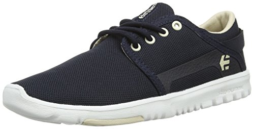 Etnies Women's Scout Skateboard Shoe, Navy/Tan/White, 9.5 M US by Etnies