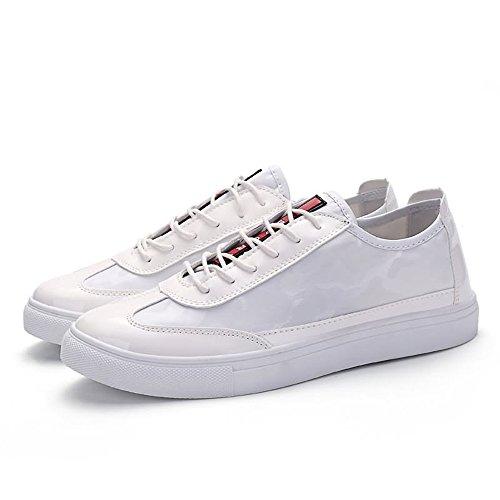 Uomo shoes EU White Shufang 40 Bianco Mocassini qaExzA