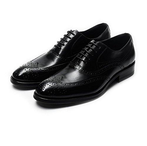 Business Jeunes en Gentleman Hommes Mode Lacets Chaussures Mariage Cuir LYZGF Black Occasionnels pCt5Y5z