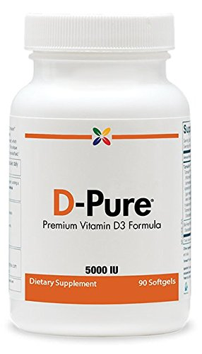 Stop Aging Now D-Pure Vitamin D3 5000 IU Softgels, 3-Pack For Sale
