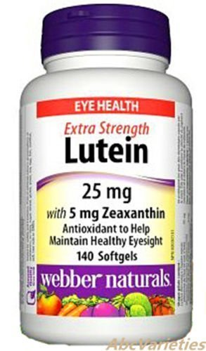 Webber Naturals Lutein 25 mg With Zeaxanthin 5 mg For Eye He