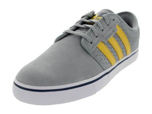 Adidas Mens Seeley Scarpa Da Skate Mid Gray / St Fade Gold / White