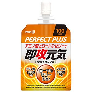Meiji Perfect plus SokuOsamu healthy jelly amino acid and royal jelly 180g pouch X36 pieces X (2 cases) by Perfect Plus