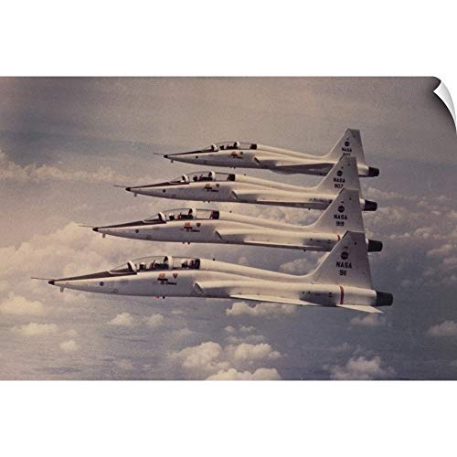 CANVAS ON DEMAND Four Northrop T-38 Talon Jet Trainers for sale  Delivered anywhere in USA