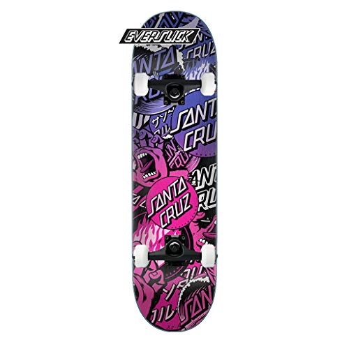 Santa Cruz Skateboard Complete Collage Everslick 8.0