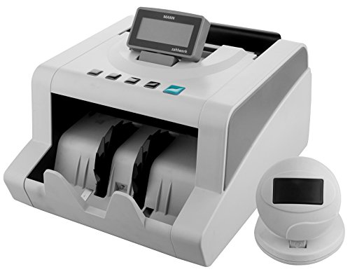 MANN Bill Counter with Ultraviolet, Magnetic and Infrared Counterfeit Detection by Carnation