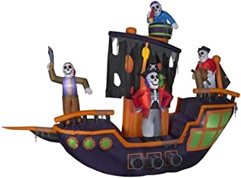Holiday Living 9.12' x 11.5' Pirate Ship Halloween Inflatable