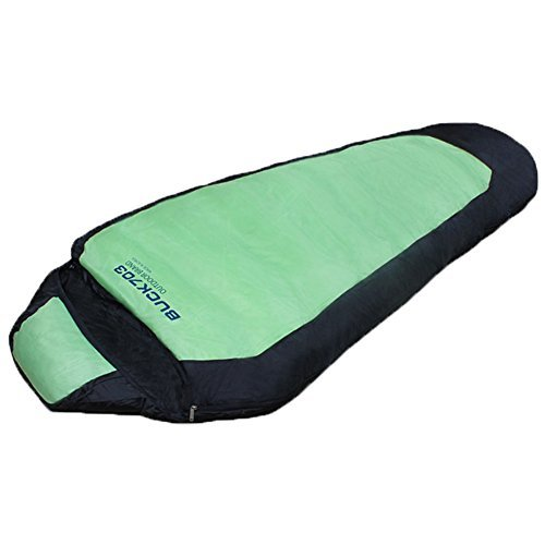 Buck703 High Density Double Fabric Goose Duck Down Sleeping Bag Green Color by Buck