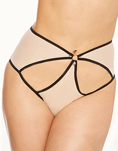 Scantilly by Curvy Kate Womens Knockout Brief Size Large in Nude