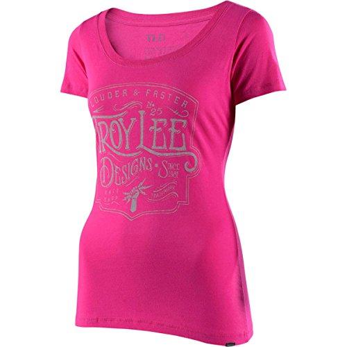 (Troy Lee Designs Women's Heritage Scoop Shirts,Medium,Raspberry)