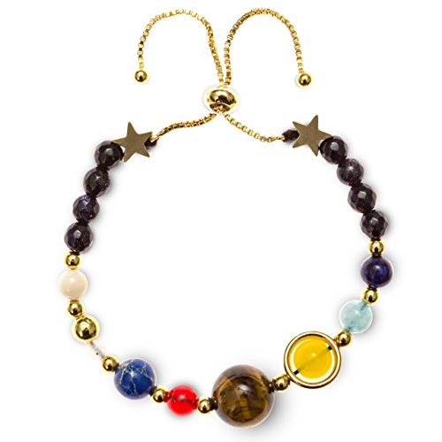 Believe London Solar System Bracelet (Gold Chain)