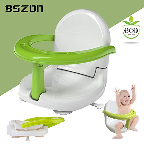 Foldable Baby Bath Seat - Baby Bathtub Seat for Sit Up,Multi-Function Anti-Skid Safety Seat,Newborn Practice Sitting Safety Chair with Backrest Support for Kids & Toddlers & Babies