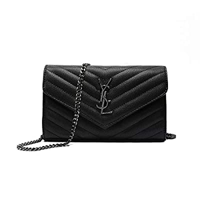 """Simple Women Small Vegan Leather Crossbody Bag Quilted Shoulder Purse With""""Y"""" Adjustable Chain"""