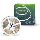 Smart Fita LED Inteligente Wi-Fi Decorativa, 5 Metros, Acompanha Ritmo da Música, Branco Frio, Quente e Colorido, Ajuste Core