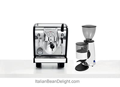 Nuova Simonelli Musica Black Pour Over Espresso Coffe Machine & Macap Chrome Doser Grinder