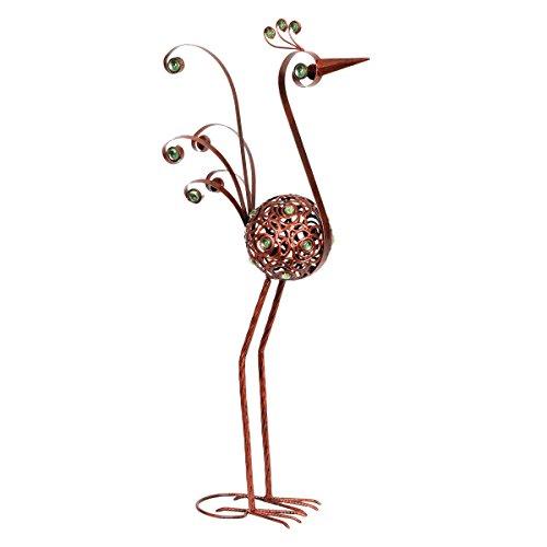 28 Inch Bronze Filigree Bird Statue - Bronze, Statuary, Metal, Elegant Bird, Home/Indoor / Outdoor Decoration by Exhart