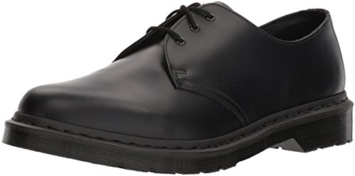 Dr. Martens 1461 Mono Glad Unisex-adult Derby Lace Up Brogues Zwart