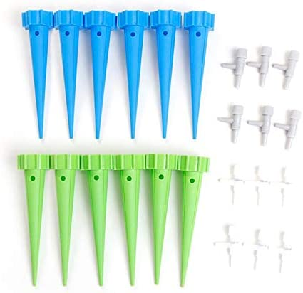 ouying1418 12PCS Garden Spike Watering Plant Flower Waterers Bottle Irrigation System