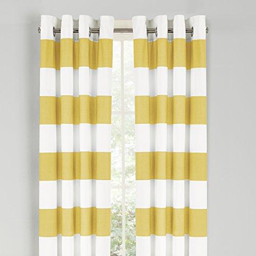 Nautica Cabana Stripe Drape Yellow