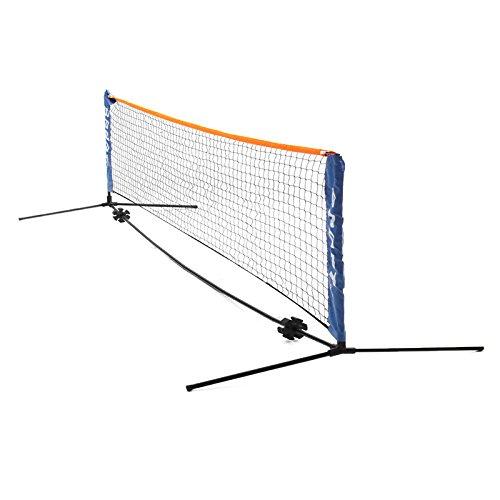 HITSAN Sport Outdoor Tennis Net Portable Post Frame Kit Badminton Volleyball Training Net 6M W/Bag One Piece