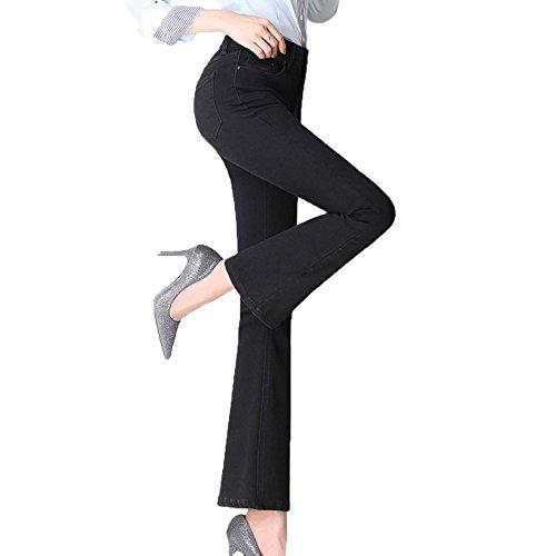Vita Zip Jeans Donna croppedpants Alta A 42 Pantaloni black2 Alta Elasticizzati E Con Da 85XFxgBqw