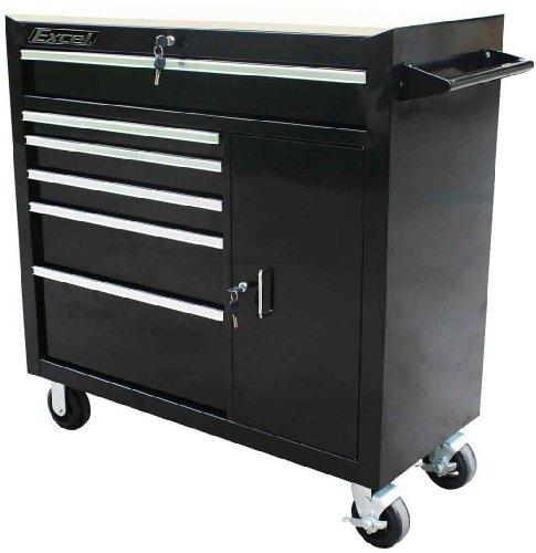 Excel TBR4108X-Black 41-Inch Steel Roller Cabinet, Black (Cabinet Roller)