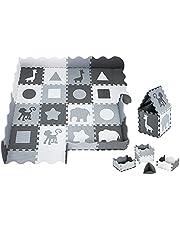 Moby-System Puzzelmat voor baby's, 150 x 150 cm, speelmat, geurloos, mat grote, puzzelmat voor jongens en meisjes, speelmat vrij van schadelijke stoffen, geurloze kruipmat