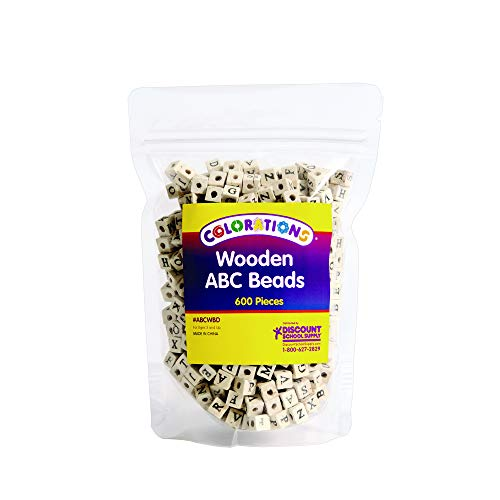 Colorations Wooden ABC Beads - 600 Pieces (Item # ABCWBD) ()