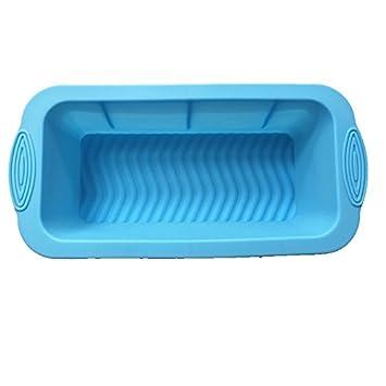 Molde de pastel de silicona pan pan tostado pan DIY moldes cuadrados en forma (Azul): Amazon.es: Hogar