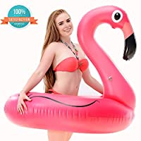 Inflatable Flamingo Pool Float Pool Party Toys Giant Premium Pool Floats for Adults and Kids Best Outdoor Vacation Beach Loungers Lake Ride-on River Raft from ALMA
