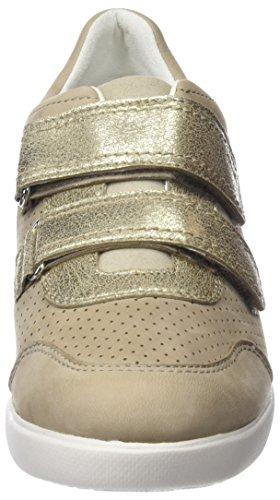 Geox Stardust Sneakers Beige Basses C Femme rfrqCR