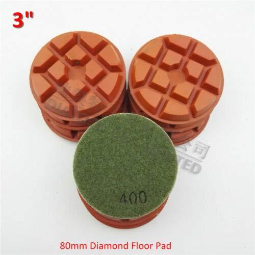 FidgetFidget 9pcs 3'' Diamond Floor polishing Pads Granite Marble Terrazzo Concrete #400 SA622