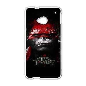 HTC One M7 White phone case Game boy TMNT Teenage Mutant Ninja Turtles JHQ4453389