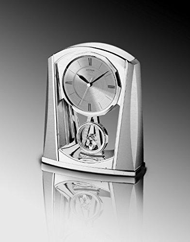 Rhythm USA Swing Mantel Clock (Crystal Silver Clock)