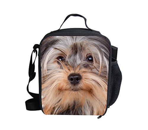 Showcool 3D Printed cute dog Zipper Lunch Bag Polyester Mini Cooler Meal Bag Cool Insulated Lunch Box for Boys Girls Kids Children - Mini Cooler Bag Golf
