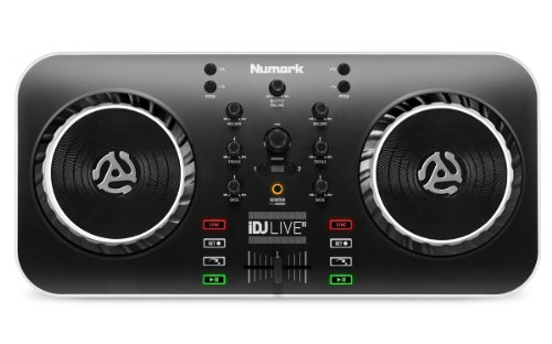 Live Dj Recording Mixer (Numark iDJ Live II | DJ Controller for Mac, PC, iPad, iPhone and iPod Touch (USB, Lightning and 30-pin))
