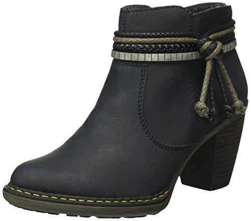 Rieker 55298-35, Women's Chukka Boots Blue (Pazifik/Schwarz/Argento/14)