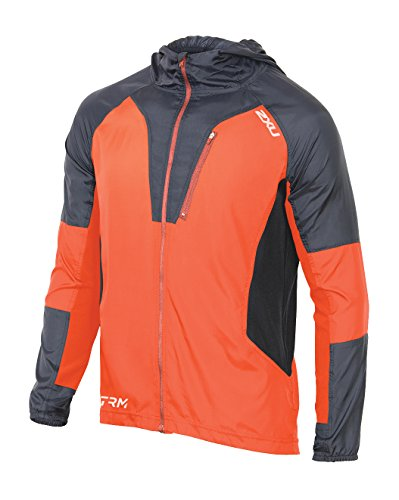 2XU Men's XTRM Race Jacket, Sunburst Orange/Ink, Medium by 2XU