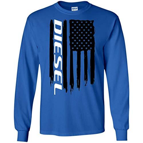 (Diesel American Flag T-Shirt Long Sleeve)