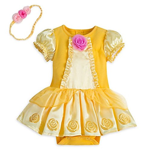 [Disney Store Beauty & Beast Princess Belle Costume Dress For Baby Yellow 12-18 Mos] (The Beast Baby Costume)