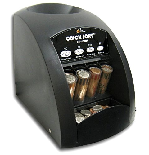 Wingsmarketshop Fast Motorized Durable Coin Sorter Electric Change Counter Automatic Machine Money Sort Wrapper New!