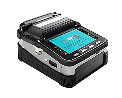 AI-7 Intelligent Automatic Focus FTTH Fiber Optic Fusion Splicer Machine with Blade Cleaver, Electrodes, Toolbox Kit