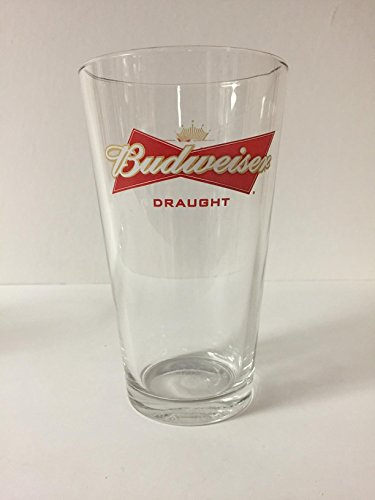Budweiser Draft Beer - Budweiser Draught Beer 16oz Pint Glass - Beechwood Aged