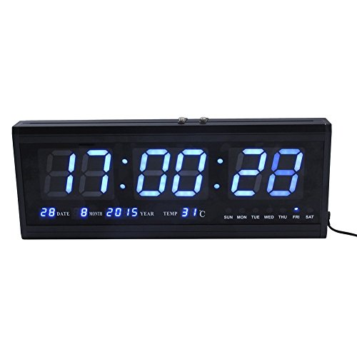 (ZJchao Large Digital Led Wall Modern Clock Timer with Calendar Temperature for Living Room, Office, Meeting Room - 18