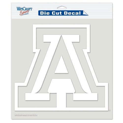 (Arizona Wildcats NCAA Vinyl Die Cut Window Decal Auto Car Logo White 8x8 Sticker College Licensed Team Logo)
