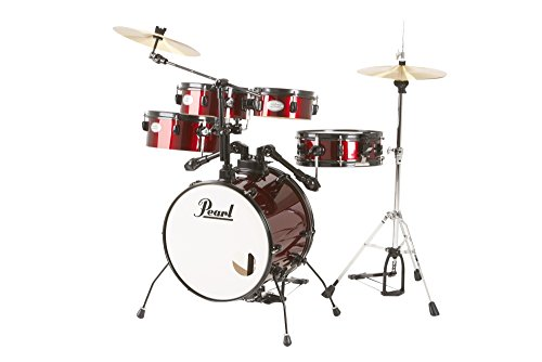 Pearl Rhythm Traveler Drum Set with Cymbals & Hardware Red Wine