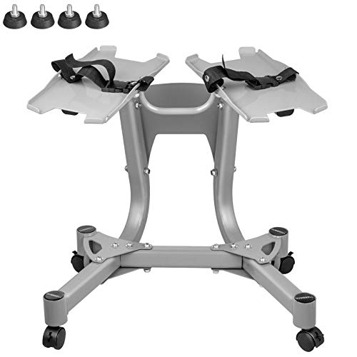 Popsport Metal Dumbbell Stand with Built-in Towel Rack Home Gym